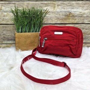 Baggallini Red Nylon Small Crossbody Fanny Pack